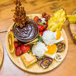 Fruit and dipping chocolate Grazing Platters